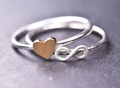 Infinity ring sterling silver ring initial ring by JubileJewel from JubileJewel on Etsy. Saved to Rings and Thingsss. Yellow Stone Rings, Infinity Jewelry, Infinity Rings, Infinity Heart, Silver Jewelry, Silver Rings, Friendship Rings, Cute Rings, Tiny Rings