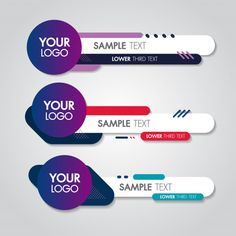 Lower third white and colorful design template modern contemporary. set of banners bar screen Banner Design, Flyer Design, Logo Design, Design Web, Origami Templates, Box Templates, Banner Template, Web Banner, Banners