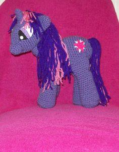 Twilight Sparkle Unicorn Inspired By My Little by amydscrochet, $30.00 #pcfteam