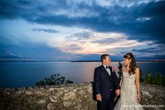 mackinac island sunset rock wedding photo by Paul Retherford Photography, http://www.PaulRetherford.com #mackinacisland #mackinacislandwedding #northernmichiganwedding #upnorthwedding #michiganwedding #puremichigan