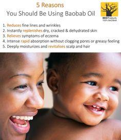 5 reasons you should be using #baobab oil Baobab Powder, Baobab Oil, Eczema Symptoms, Oil For Dry Skin, Clogged Pores, Skin Problems, Skin Treatments, Vitamins, Moisturizer