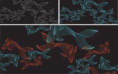 Aquarium by Ismael Bertamoni, via Behance Behance, Patterns, Painting, Art, Block Prints, Art Background, Pattern, Painting Art, Kunst