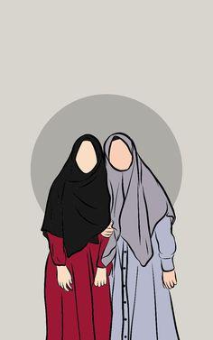 Wallpaper Wa, Cute Disney Wallpaper, Cute Cartoon Wallpapers, Girl Cartoon Characters, Couple Cartoon, Baby Elephant Drawing, Aesthetic Couple, Islamic Cartoon, Anime Muslim
