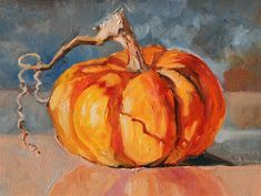 """One Small Pumpkin"" original fine art by Carlene Dingman Atwater"