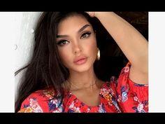 Selena Gomez Makeup Bold Wing Liner Nude Lips! 2017 - YouTube
