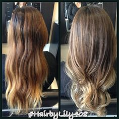 Changed the brassy hair to something more natural and ashy! Ombré with Balayage highlights | Yelp