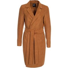 First And I Fiasmir Duster Coat (84 CAD) ❤ liked on Polyvore featuring outerwear, coats, brown, jackets, womens-fashion, brown coat, duster coat, brown duster coat and oversized coat
