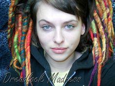 custom + dreads + dreadlocks + wool + boho + hippie on Etsy