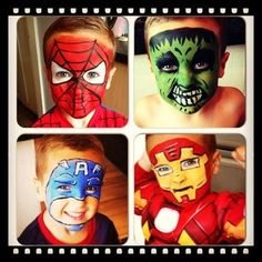 / The Hulk / Captain America / Iron Man - Marvel Heroes Face Paint ...