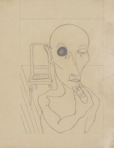 Angelika Hoerle, Mann mit Auge entfernt, 1921
