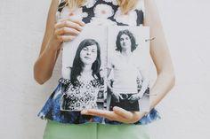 Álbum de fotos de cartón.