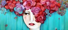 Art Pop, Painting Of Girl, Fabric Painting, Illustrations, Illustration Art, Naive Art, Leaf Art, Altered Art, Female Art