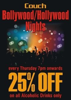 BoLLyWooD/HoLLyWooD NightS @ Couch, Couch, Bangalore