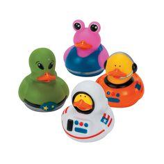 Astronaut/Space Alien Rubber Duckies - OrientalTrading.com