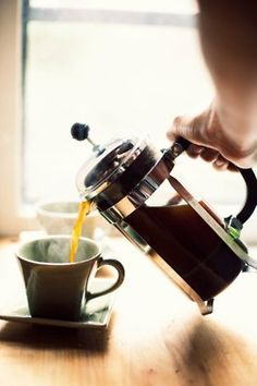 Coffee please...love French press.