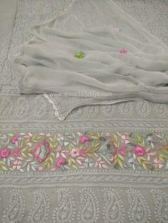 Chikankari Suits - Mukaish work Lucknowi suits - badala and kamadani work Suits Embroidery Online, Embroidery Suits, Hand Embroidery, Lucknowi Suits, Chikankari Suits, Embroidered Kurti, Fancy Sarees, Hijab Dress, Pakistani Suits