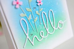 Hello Friends and welcome to day three of the Poppystamps Blog blitz where we are featuring all of the amazing new dies that are now available for sale! Today I am featuring the beautiful new Johnny Jump Ups die! It's so sweet and there are so many things you could do with these precious little flowers! I started with a piece of watercolor paper cut 5 1/4 x 4. I blended some green and blue distress ink in the center and spritzed with water, as a background for my flowers. I cut the flowers…