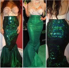 Make your own Kim K Mermaid costume. (by ItsavGlamour on Etsy)