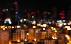 Abstract bokeh of defocused city lights