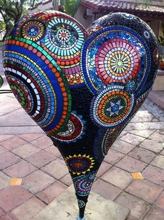 Mosaic-Heart-by-GardenDivaDeb.jpg (477×640)