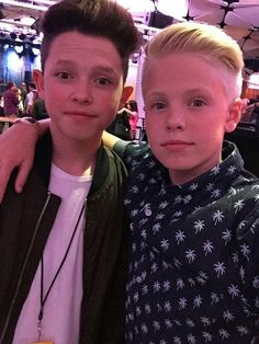 Carson Lueders and Jacob Sartorius