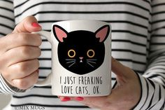 Funny Cat Mug Funny Cat Gifts Cat Lover Gift Cat Owner Gift Crazy Cat Lady Mug Kitty Mug Meow Mug Cute Cat Mug Black Cat Coffee Mug (c211)