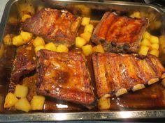costillas de cerdo con piña