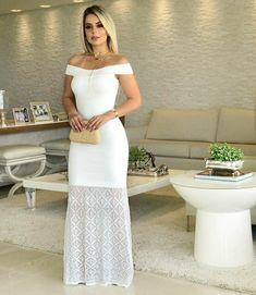 535db31744fa Vestidos Para Pré Wedding, Roupa Reveillon, Vestido Longo Croche, Vestido  Batizado, Vestido