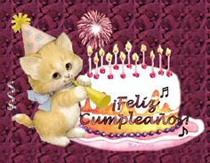 Imágenes de Cumpleaños » Mensajes, Frases y Tarjetas de Feliz Cumpleaños Happy Birthday Wishes Cake, Happy Birthday Ecard, Happy Brithday, Happy Wishes, Birthday Messages, Happy B Day, Birthday Candles, Birthdays, Christmas Ornaments