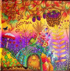 Floresta Encantada - Usei lápis de cor Giotto em praticamente tudo. ❤️ #giotto #florestaencantada #coloringbook #carolpafiadache #ginapafiadache #coloringbook #colors