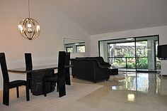 High gloss stained concrete floor for condo