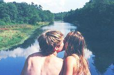 girl, guy, kiss, water - image #210720 on Favim.com