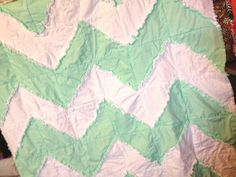 PATTERN Rag Quilt, Chevron, Reversible, Toddler Bedding, Baby Blanket, SEWING Instructions, Instant Download PDF