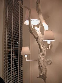 30 Chic Home Design Ideas – European interiors. - Olga Moldovan - Diy Home Design Driftwood Lamp, Driftwood Crafts, Wood Lamps, Diy Lamps, Diy Vintage, Diy Home Decor, Room Decor, Ideias Diy, Design Case