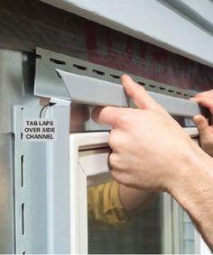 install vinyl trim around windows