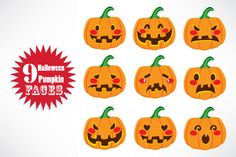 Check out Pumpkin Face Expressions by Kakigori Studio on Creative Market