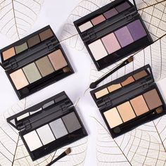 Warm eyeshadow palettes from BE CREATIVE MAKE UP for autumn.