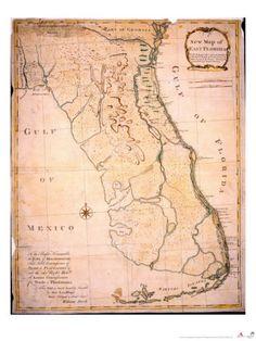 1767 - map of Florida