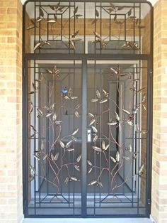 Architectural and Artistic Wrought Iron Perth | Nature is close to home with this design www.jalmer.com.au
