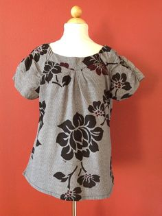 KOI Demi Scrub Top Black Floral Bohemian Print Size L #Koi