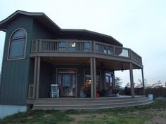 Hundreds of photos of Deltec homes: exteriors, interiors, 'circular', and with wings and connectors on www.deltechomes.com