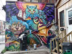 Clandestinos, Shalak, Smoky - graffiti/street art Toronto 2014