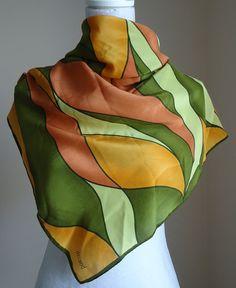 Vintage 1970s delMod Silk Scarf on Etsy, $34.33 CAD
