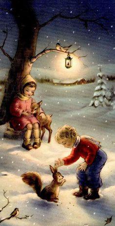42 Best Ideas for fashion ilustration vintage christmas scenes Vintage Christmas Images, Old Fashioned Christmas, Christmas Scenes, Christmas Past, Retro Christmas, Christmas Pictures, Christmas Greetings, Winter Christmas, Christmas Crafts