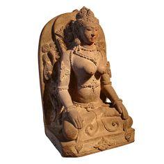 1stdibs.com | Lotus Gallery - An Indonesian Andesite Figure of Devi
