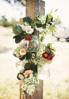 Hello May Magazine  |  THERE'S AN IDEA: DIFFERENT WAYS WITH FLOWERS - flowers in jars