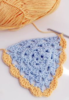 yarn over — (via Crochet - Granny Triangle Bunting Pattern)