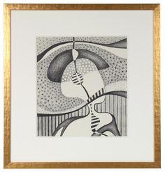 "89111- Jane Mitchell, 1979, Graphite on Paper, 18.5""x19.75"" Framed $645"