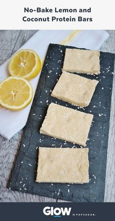 These no-bake lemon coconut protein bars are a perfect post-workout snack.