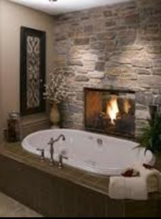 Have Double The Enjoyment Of A 2 Way Fireplace In Master Bath U0026 Bedroom!
